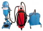 Mobile Pulverumfüllmaschine PFF-FLIPP-AIR-MATIC mit Pulveraufbewahrungstonne