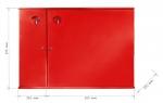 Hydrant System D25 mit einer Aufbewahrungsbox für einen Feuerlöscher